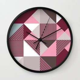 Scandi Geo Wall Clock