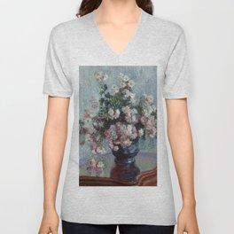 "Claude Monet ""Chrysanthemums"", 1882 Unisex V-Neck"