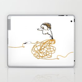 one click man Laptop & iPad Skin