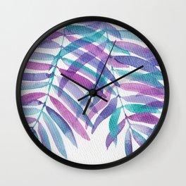 """Lavender Leaves"" watercolor illustration Wall Clock"
