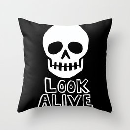 Look Alive Throw Pillow