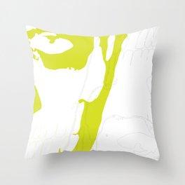 Lime Green Rick Genest & Shaddow Throw Pillow
