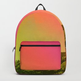 Boulder Colorado Flatirons Decor \\ Chautauqua Park Sunset Red Yellow Photo Nature Bohemian Style Backpack