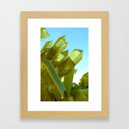 3d Yellow Crystals Framed Art Print