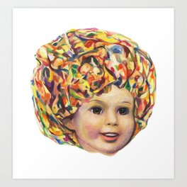 Lollipop Glump (Shirley Temple Portrait) Art Print