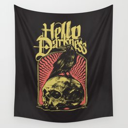 Hello Darkness Wall Tapestry