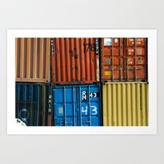 Pointe St. Charles Shipping Closeup Art Print