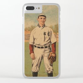 Vintage Baseball Player - Baker - Kansas City Clear iPhone Case