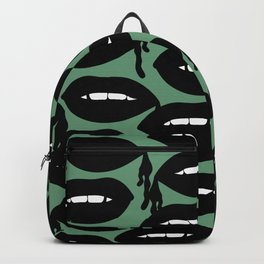Bloody Lips in Green Backpack