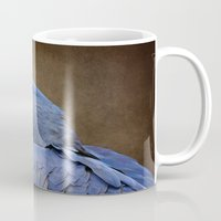 uncharted Mugs featuring Beauty is an Enchanted Soul - Hyacinth Macaw - Anodorhynchus hyacinthinus by Sharon Mau