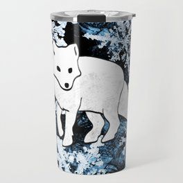 Foxes & Flakes (Blue Version) Travel Mug