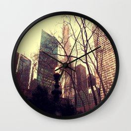 Vintage view out of Central Park  Wall Clock