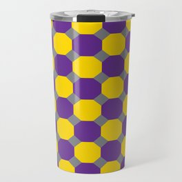 Purple and Yellow Octogons Travel Mug