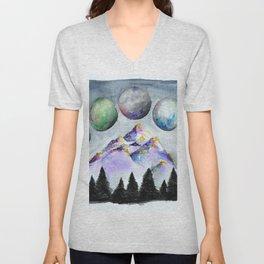 Moon Phases Unisex V-Neck