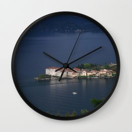 Busy Day On Lake Maggiore Wall Clock