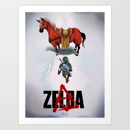 Zelda/Akira Art Print