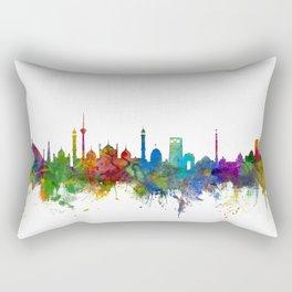 New Delhi India Skyline Rectangular Pillow