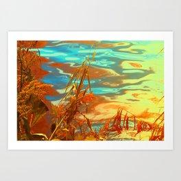 Autumn Nature Water Colors Art Print