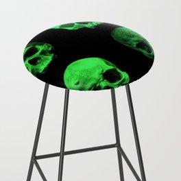 Skull quartet green Bar Stool