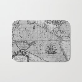 Old World Map print from 1589 Bath Mat