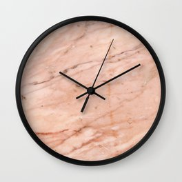 Rose-Gold Marble Wall Clock