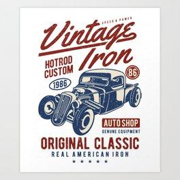 Vintage Iron Hot Rod Custom Art Print