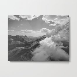 The Landscape (Black and White) Metal Print