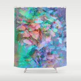 Pastel Abstract Hydrangea Shower Curtain