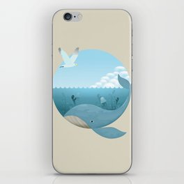 Whale & Seagull (US and THEM) iPhone Skin