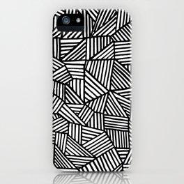Black Brushstrokes iPhone Case