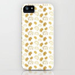 Lotus flower seamless pattern iPhone Case