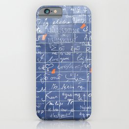 I love you. iPhone Case