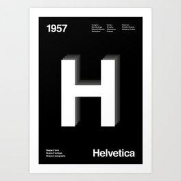 Sans Serif Vol. ¹ – Helvetica Art Print