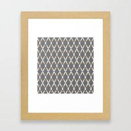 Gray Pattern No. 2 Framed Art Print