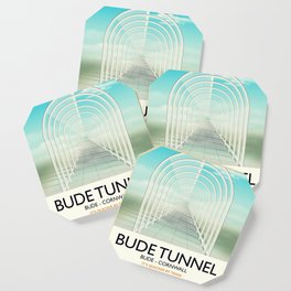 Bude Tunnel - Cornwall travel poster Coaster