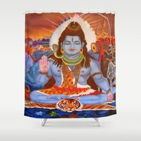 shiva Shower Curtains featuring Shiva by Antonimo-discipulosinmaestro