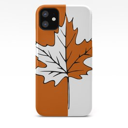 Maple Leaf (orange + white) iPhone Case