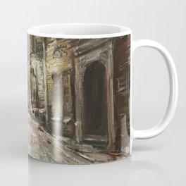 Old City Print Original Oil Painting on Canvas Coffee Mug