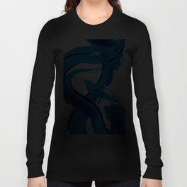 Pure Water 302 - Blue Abstract Art By Sharon Cummings Long Sleeve T-shirt
