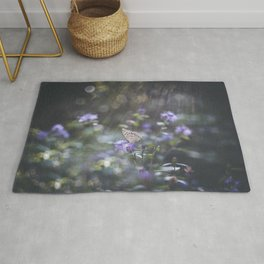 Sunrays  over the butterfly Rug