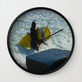 Little Surfer Girl Wall Clock