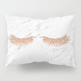 Rose gold marble lash envy Pillow Sham