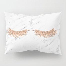 Rose gold marble lash envy Pillow Sham