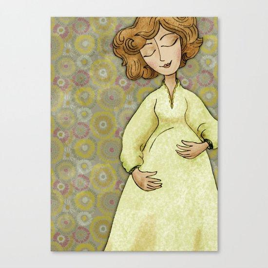 Sarah Expecting Canvas Print