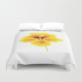 Indian cress flower - illustration Duvet Cover
