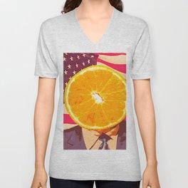 Orange for President Unisex V-Neck