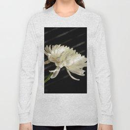 Single White Flower Long Sleeve T-shirt