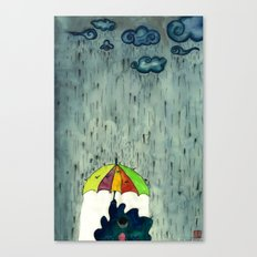 Oh! Raining Night Canvas Print