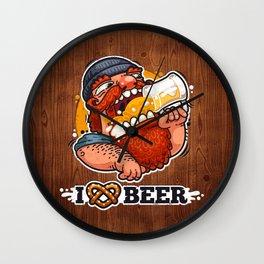 Man Loves Beer Wall Clock