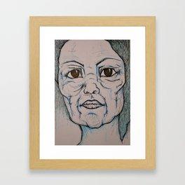 Visage 14 Framed Art Print